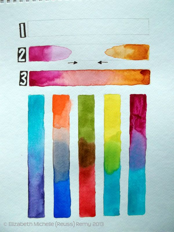 Watercolor Wednesday Blending Practice Watercolor Art Diy