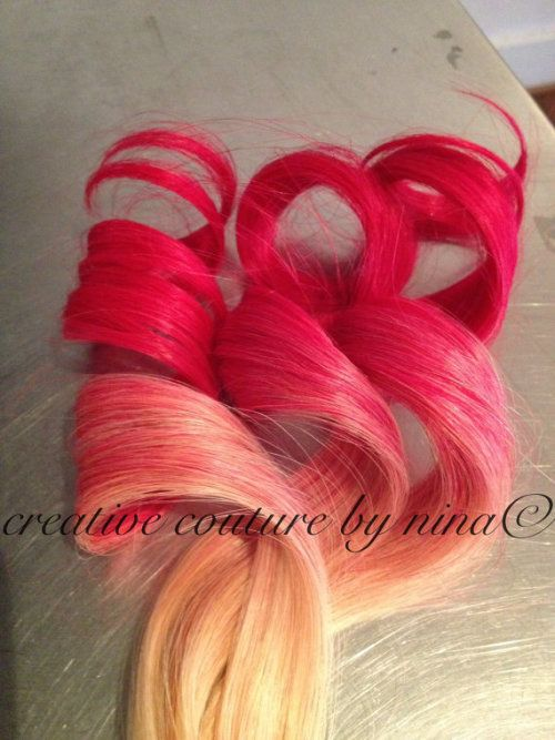 Hot Pink Ombre Hair Hot Pink Hair Blonde Hair Dipped In Pink