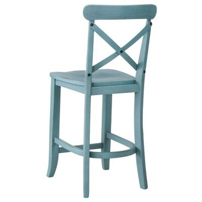 Awesome Harvester X Back 24 Counter Stool Teal Beekman 1802 Creativecarmelina Interior Chair Design Creativecarmelinacom
