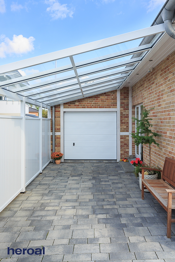 heroal aluminum carports complement your house and protect