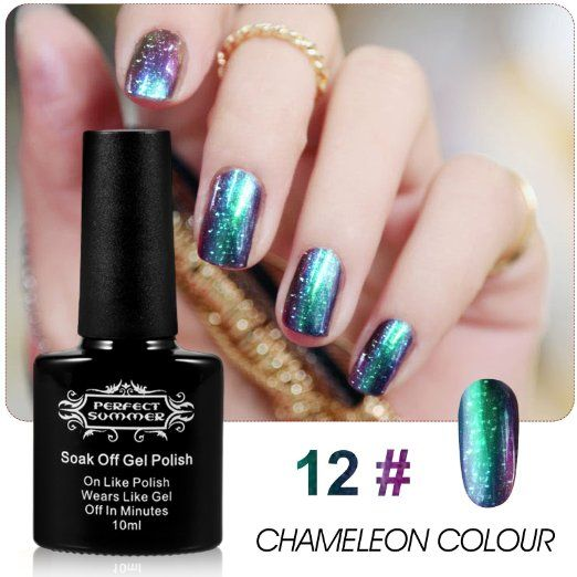 Gelaxy Gel Nail Polish: Perfect Summer Holographic Glitter Starry Galaxy Chameleon