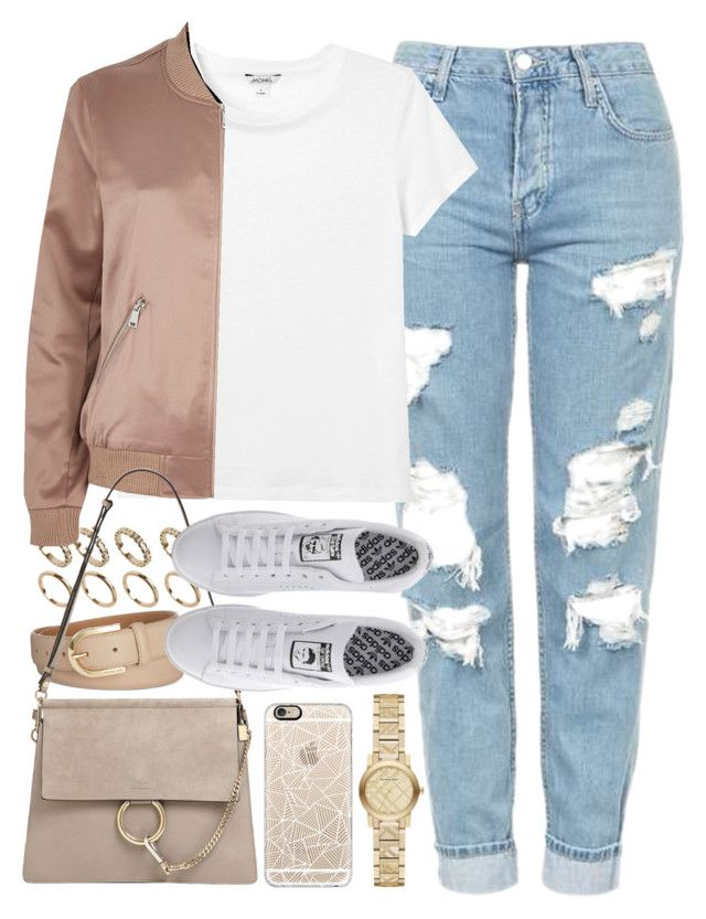 U0026quot;Outfit with mom jeans and a bomber jacketu0026quot; by ferned on Polyvore featuring Casetify Topshop ...