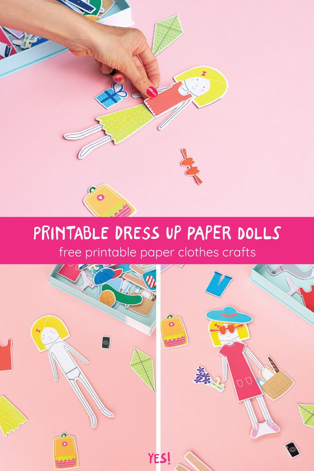 Printable Dress up Paper Doll Template - YES! we made this -   14 dress DIY free printable ideas