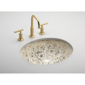 Undermount Bathroom Sink Oval kohler artist editions caxton mille fleurs undermount oval