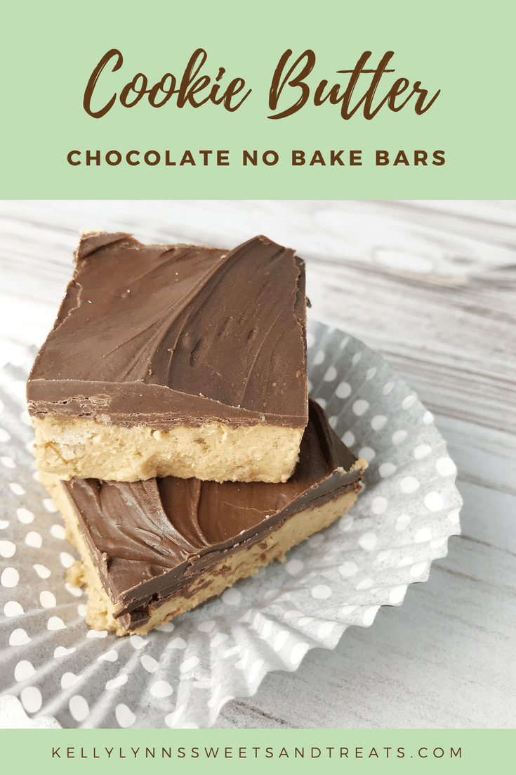 Cookie Butter No Bake Bars #cookiebutterpie