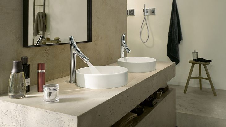 Save Water With Axor Starck Organic Hansgrohe Us Minimalist Bathroom Design Modern Bathroom Decor Axor Starck
