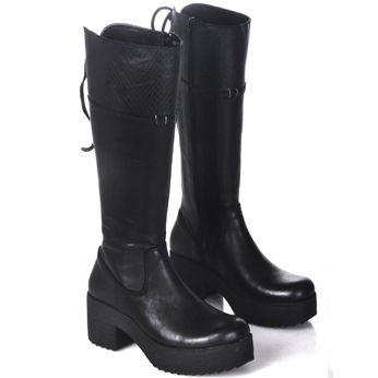 400b50c86a1 Botas Mujer Caña Alta Zapatos Plataforma Almacen De Cueros -   1.099 ...