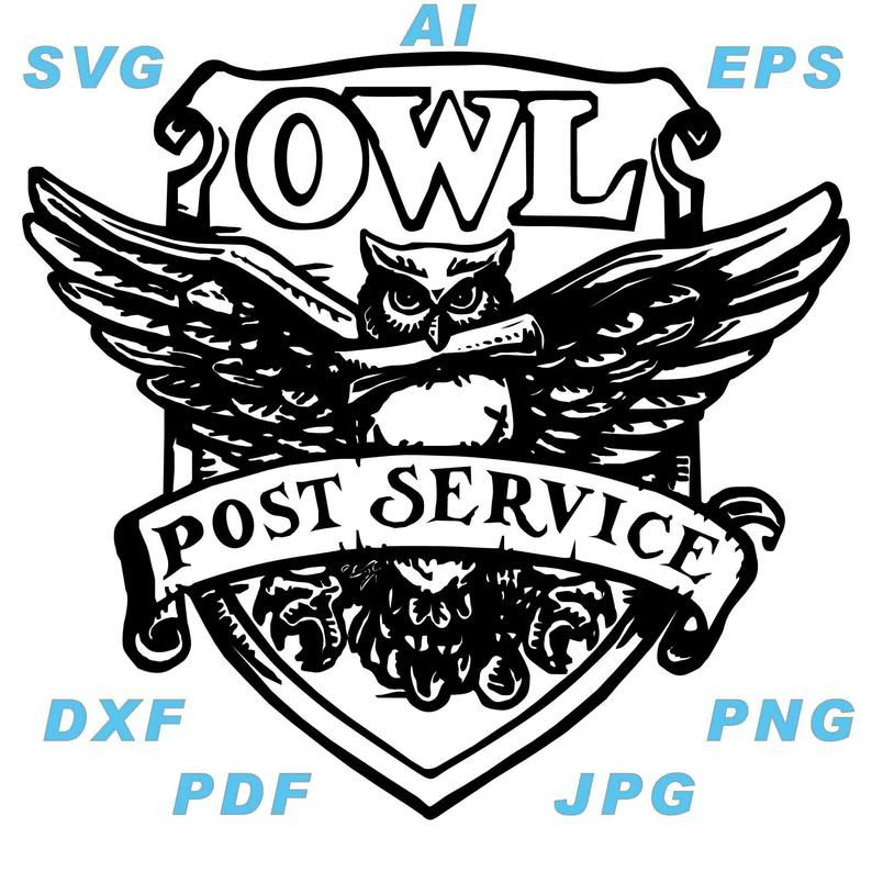 Owl Post Service Svg Etsy In 2020 Owl Post Post Stamp Wood Stamp