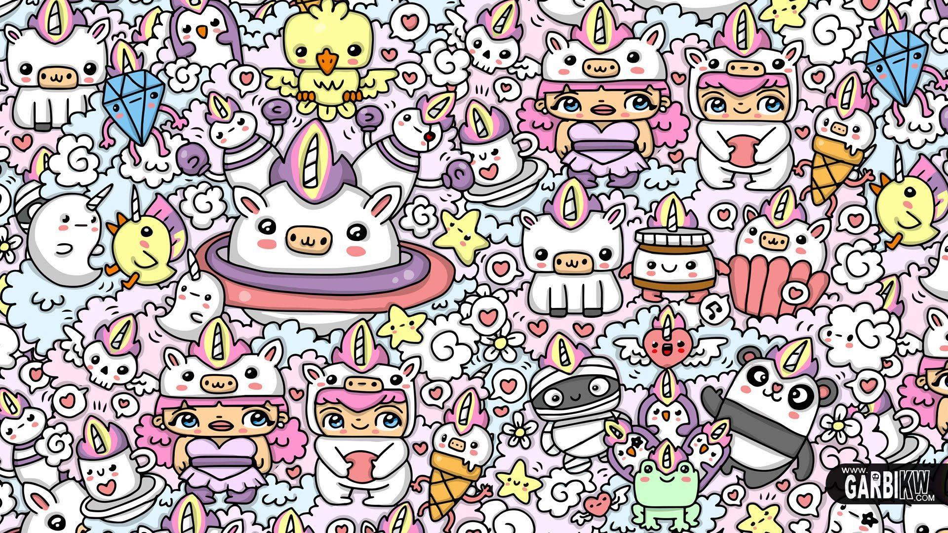 Kawaii Unicorn World Kawaii Graffiti And Cute Doodles By Garbi Kw Cute Doodles Unicorn Wallpaper Unicorn Wallpaper Cute
