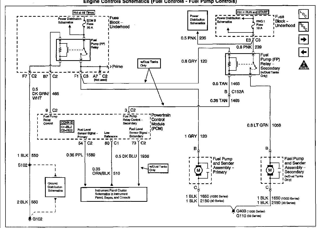 2002 Gmc Yukon Fuel Pump Wiring Diagram