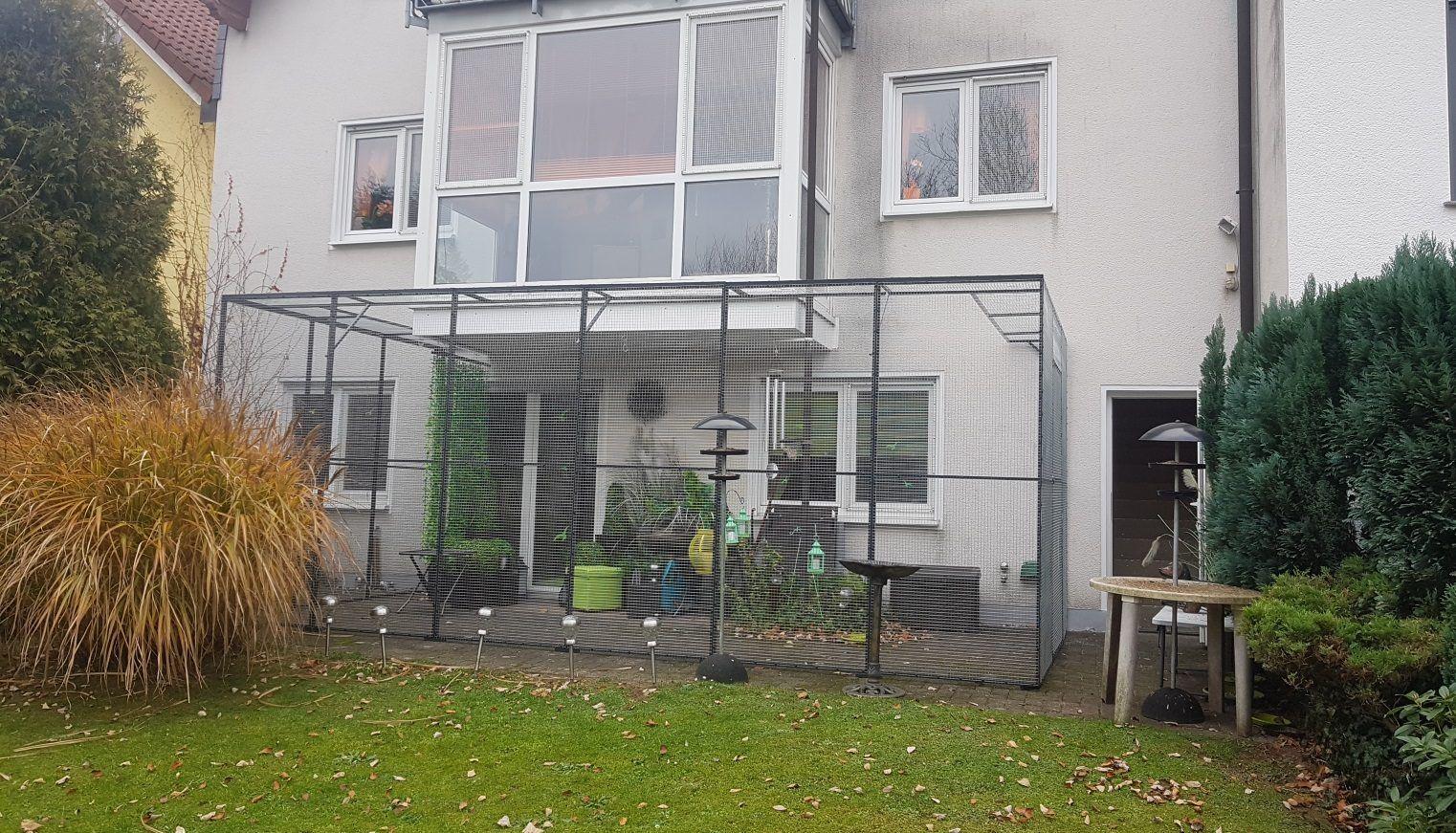 Terrassensicherung Mit Gehege Elementen Gehege Katzennetz Terrasse