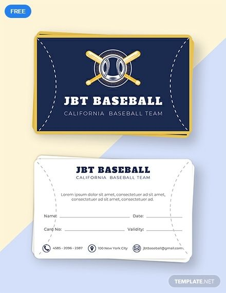 Free Baseball Card Template | Baseball card template ...