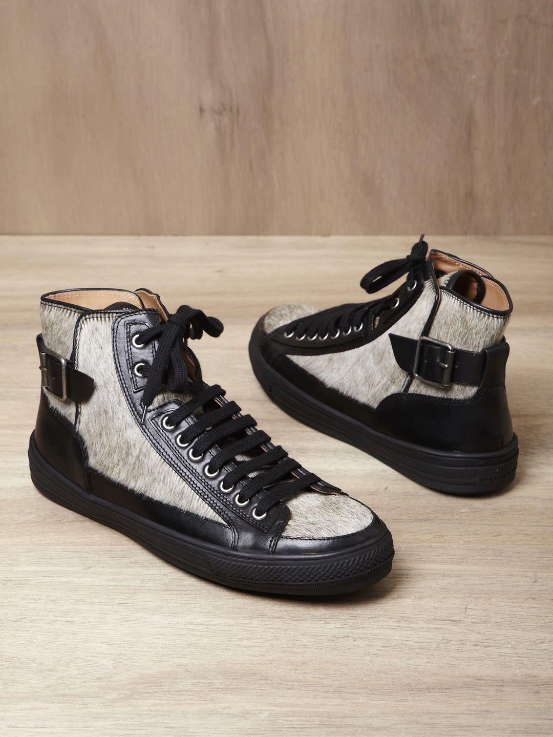0b61ae1d076 dries van noten men s buckle high top sneakers £146.00