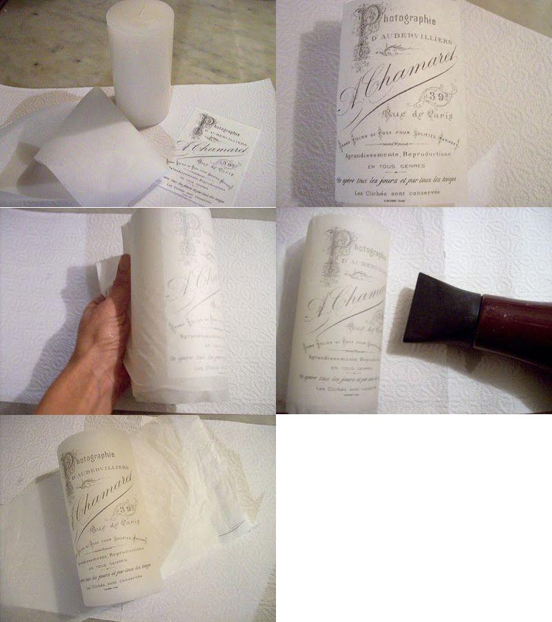 C mo imprimir velas papel de pergamino vegetal y papel - Transferir fotos a velas ...