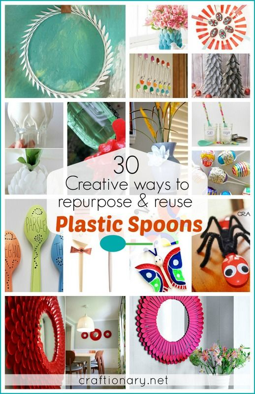 30 Best Creative Plastic Spoon Projects Recycle Art Plastic