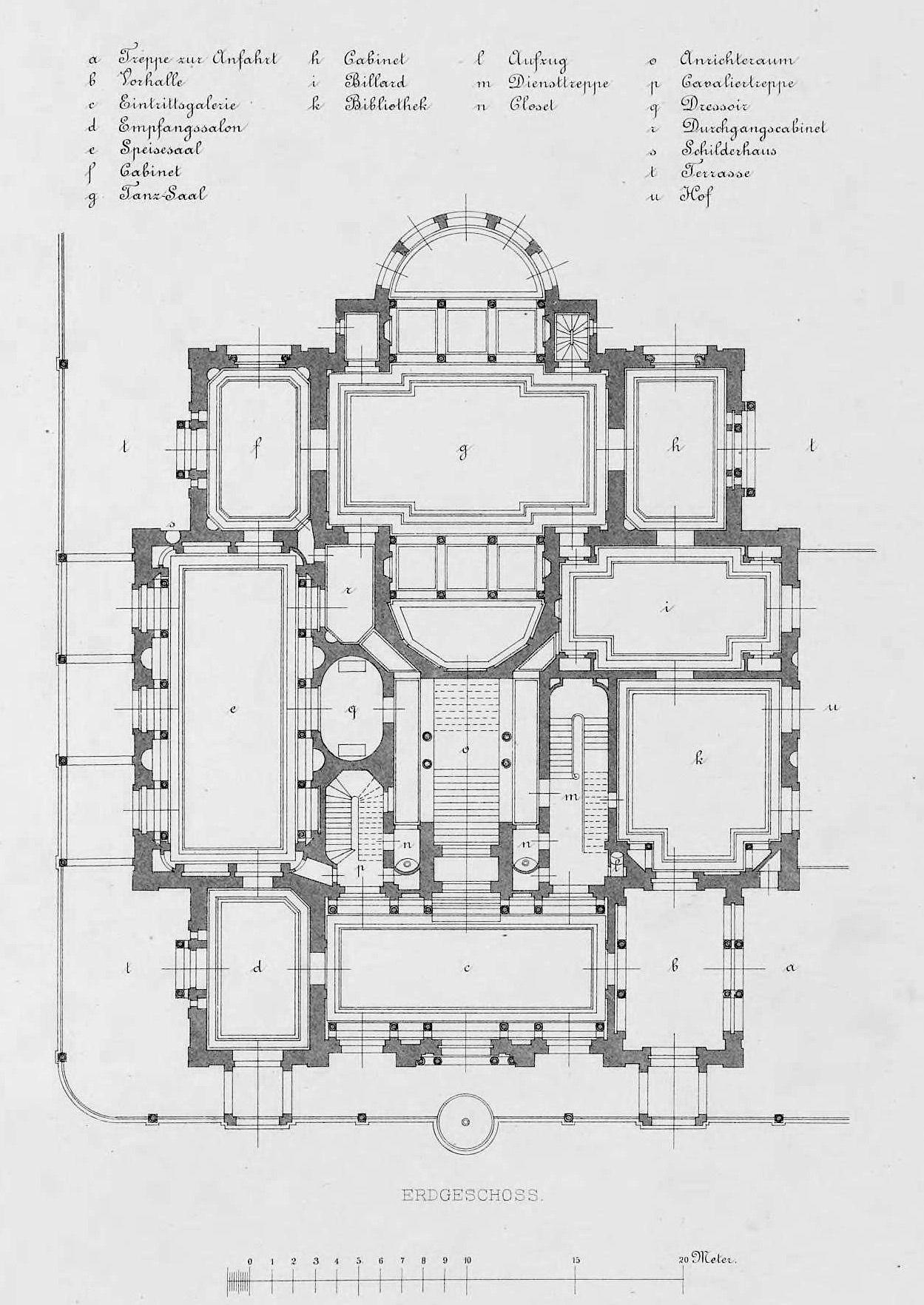 Floorplan of the Villa Berg, Stuttgart archimaps
