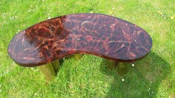 Bean table in fractal resin by Arriau