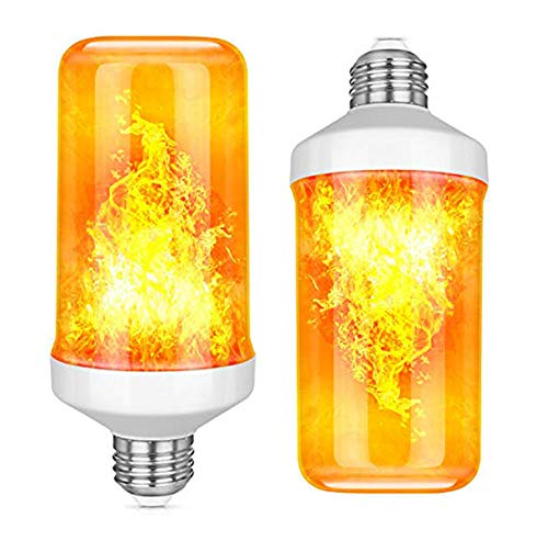Ledera Led Flame Light Bulbs Realistic Flickering Flame Light Bulbs With Upside Down Effect E26 Base Flame Effect Light Bulbs For Hallow In 2020 Lamp Lamp Decor Bulb