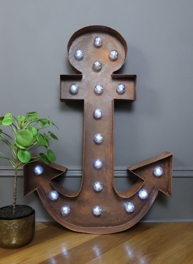 How Do I; DIY Marquee Light Up Anchor