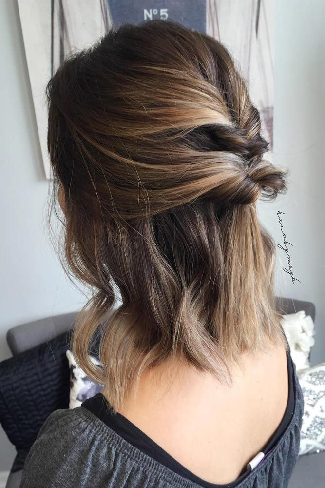 Updos For Short Hair That Will Impress With Their Elegance And Simplicity Short Hair Updo Hair Styles Short Wedding Hair