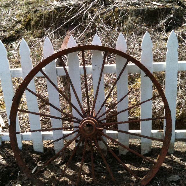 Love Wagon Wheels Outside