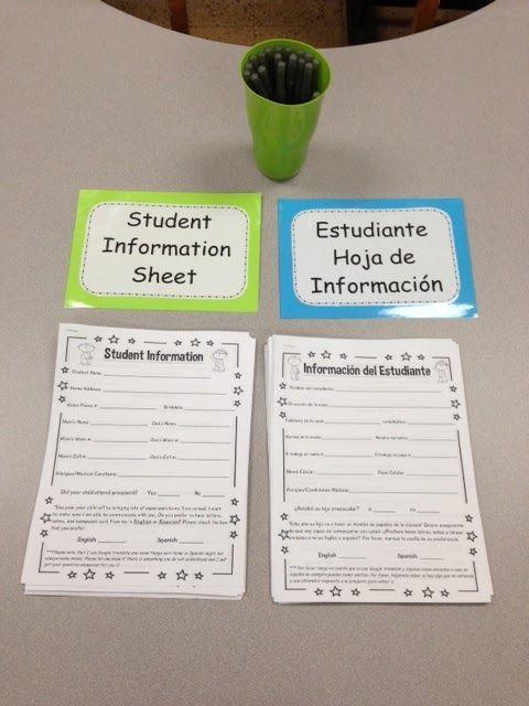 Meet the Teacher Night! Free English and Spanish printables #meettheteachernight