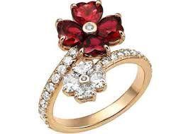 anello fiore alta gioielleria rubini - Cerca con Google