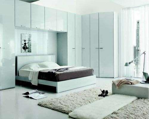 Camere da letto matrimoniali a ponte mobili chiari per - Mobile a ponte per camera da letto ...
