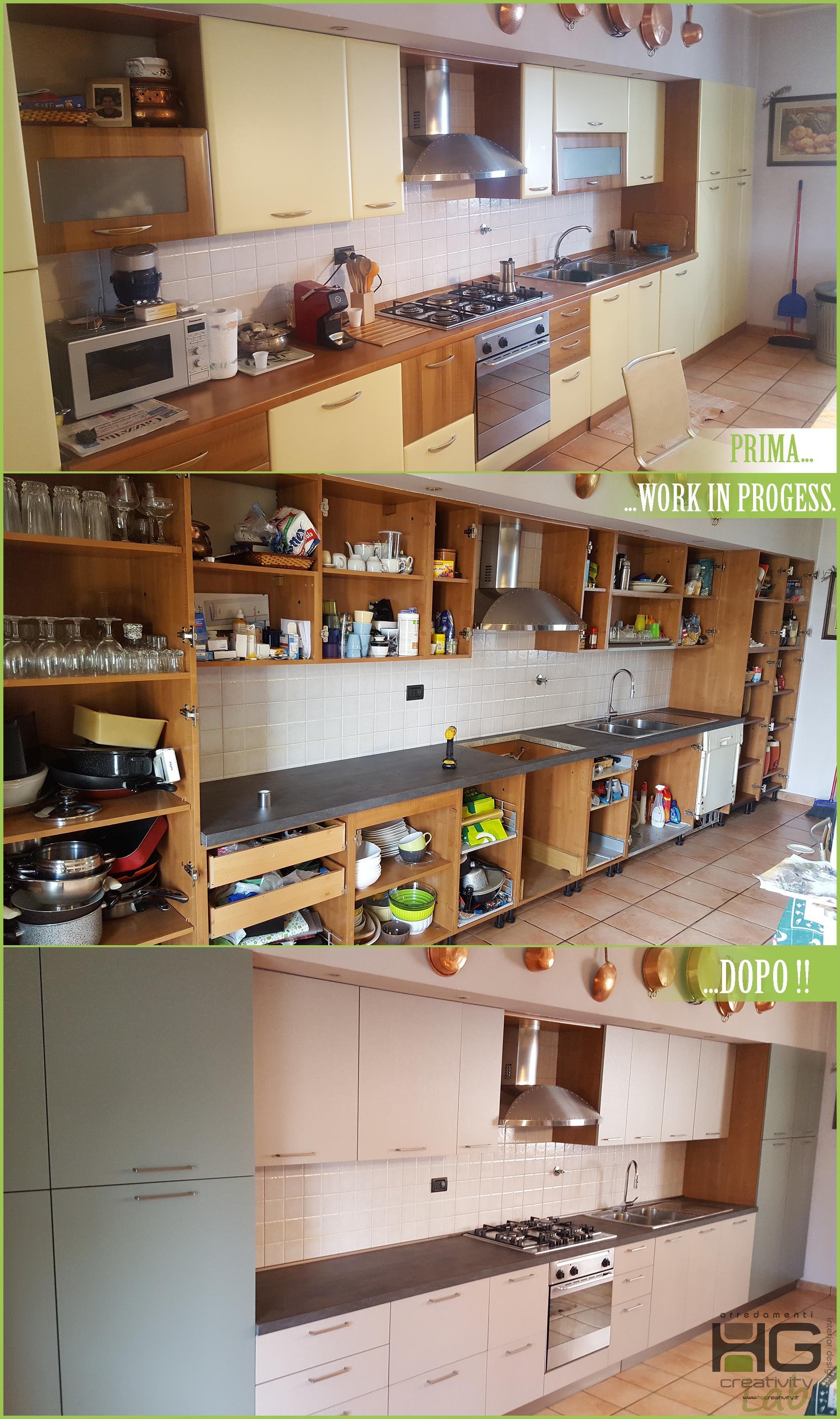 Rinnovo di una #cucina di oltre 20 anni con la sostituzione ...