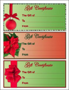 Beautiful Christmas Gift Certificate Template. Homemade ... Awesome Ideas