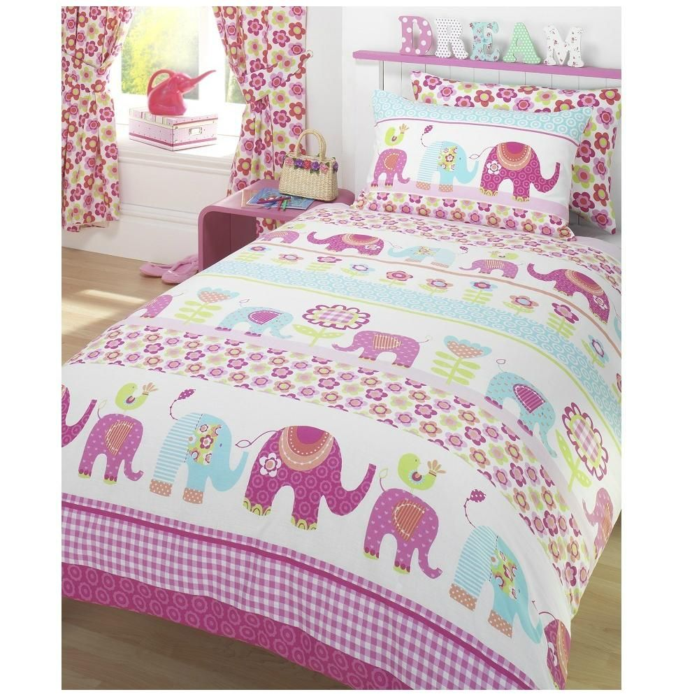 Bedroom Sets Girl elephant bedding for girls |  cover & pillow case set girls