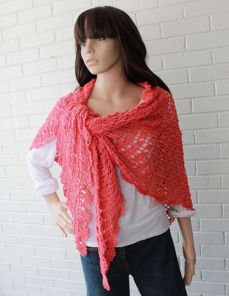 Flamingo Shawl Crochet Pattern | Chal, Tejido y Ponchos