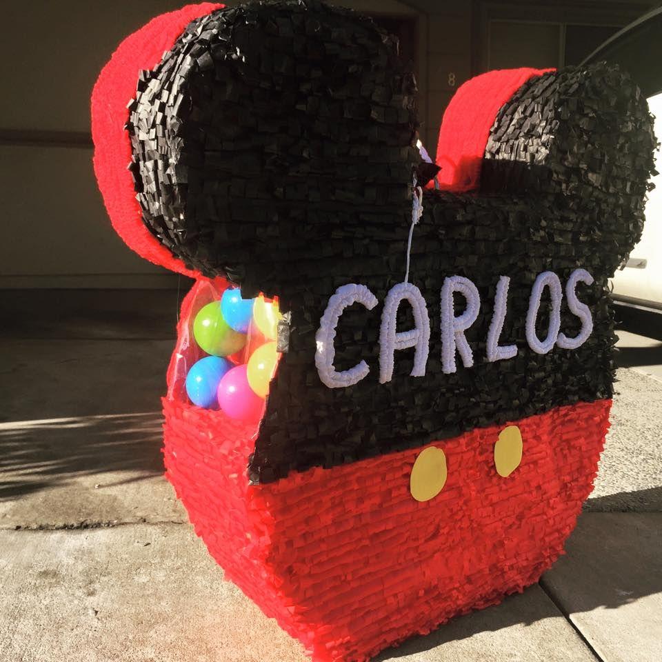 piñata mickey mouse con pelotas