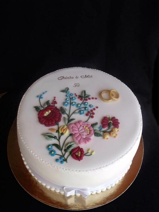 Hungarian embroidery cake - Cake by Anfema