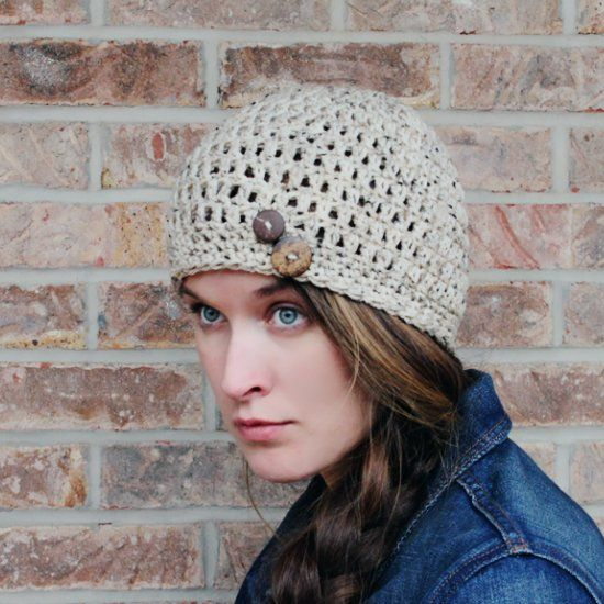 Go Grab This Free Crochet Hat Pattern Featured In Oatmeal Tweed And