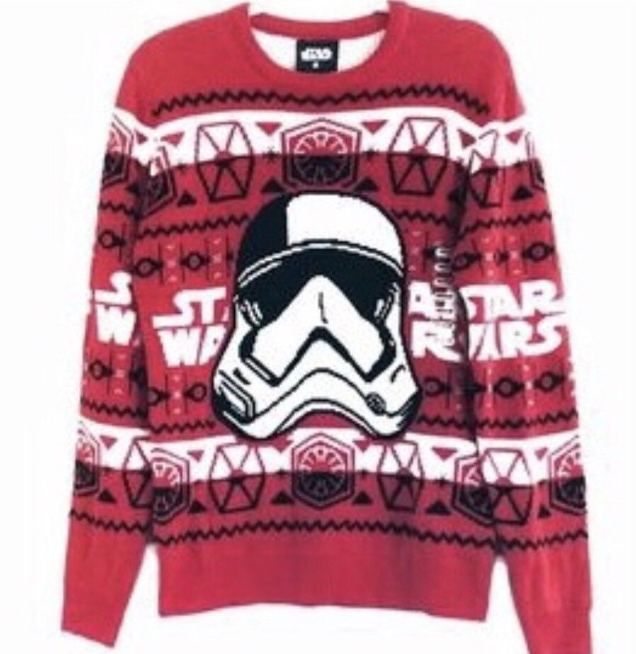 New Stormtrooper Star Wars Ugly Christmas Sweater Think Geek Unisex
