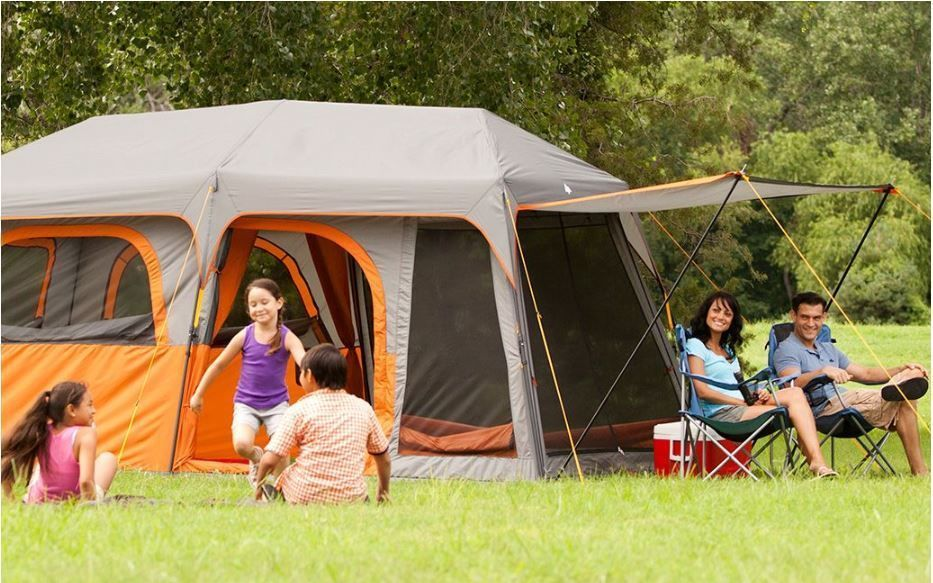 C&valley C& Valley Instant Tent Deluxe Edn for 9 Person with Room Divider & Campvalley Camp Valley Instant Tent Deluxe Edn for 9 Person with ...