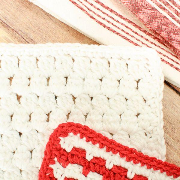 Cluster Stitch Crochet Dishcloth Pattern | Tejido