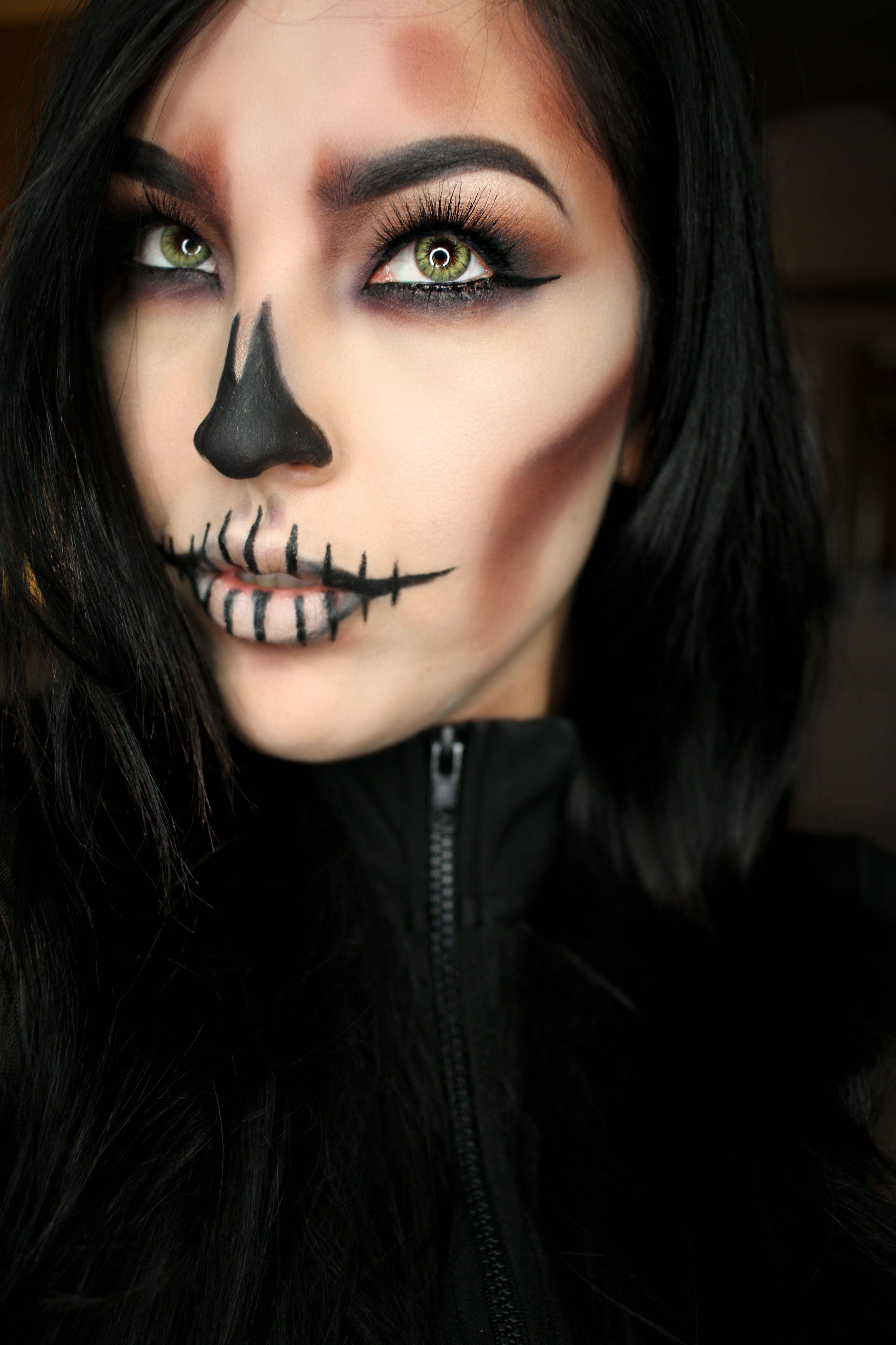 Skull makeup halloween halloweenmakeup skullmakeup