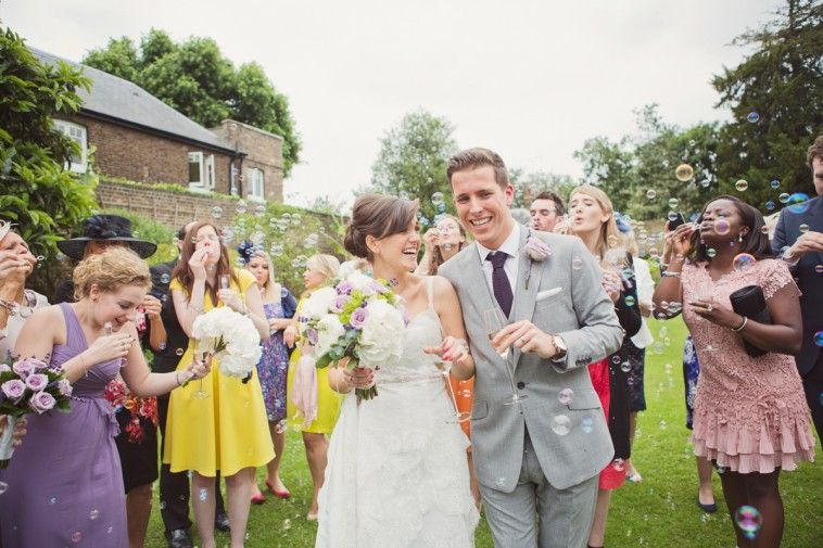 Bubble Confetti Wedding | Kew Gardens Wedding