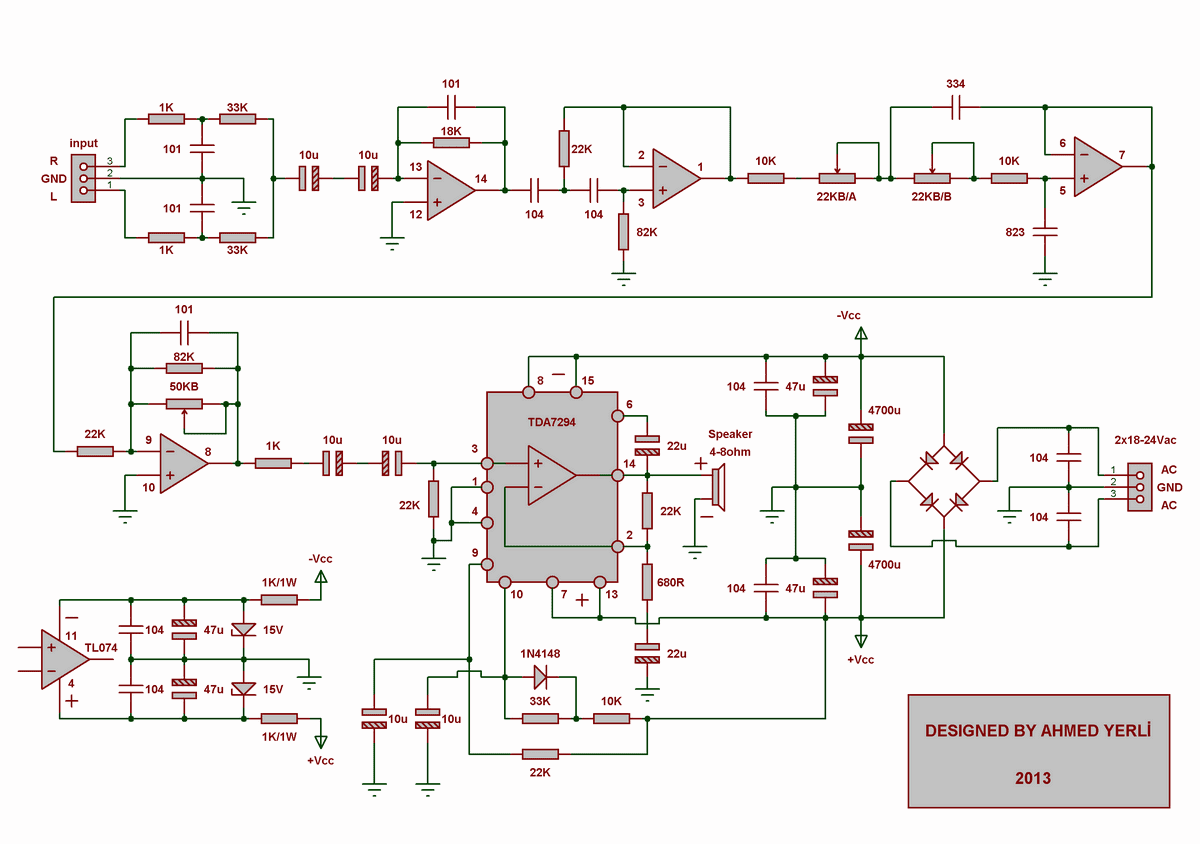 Diy Electronics Projects Audioamplifierledmikrocontrollersimple Simple Audio Circuit Audiodiy And Diagrams