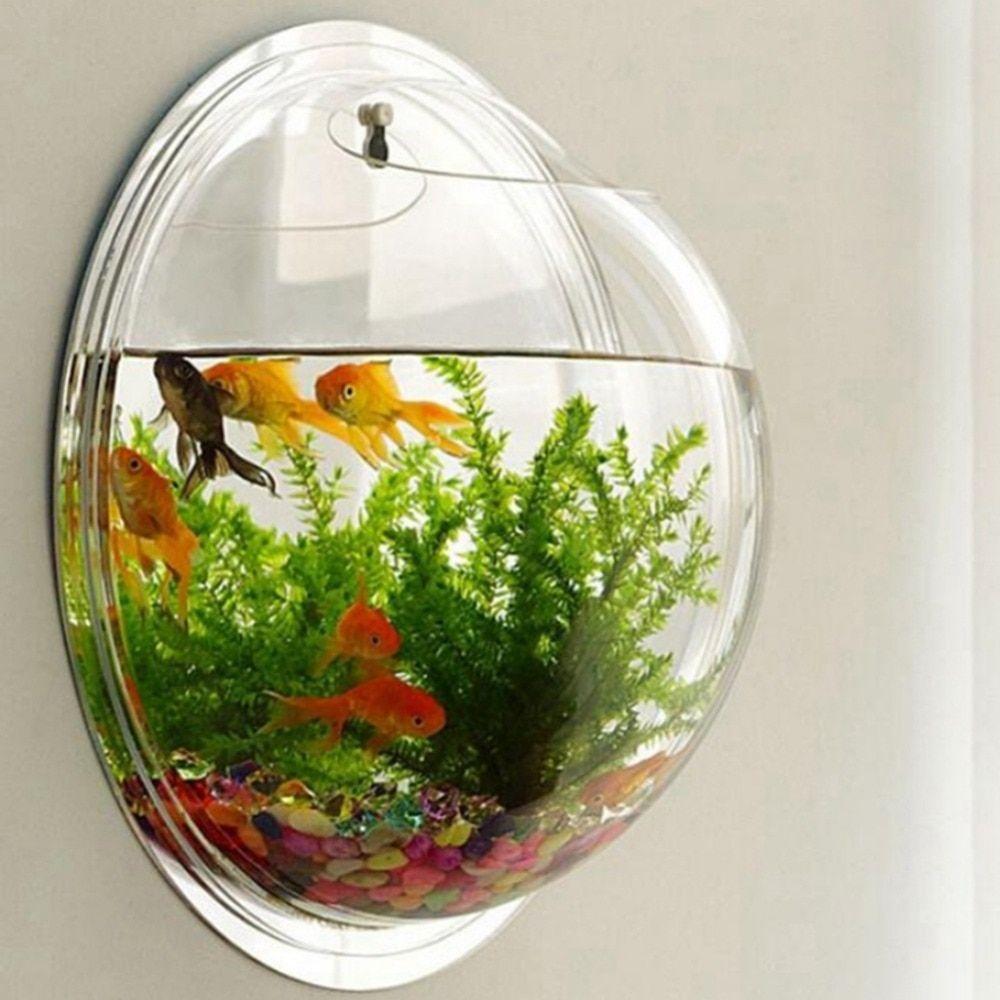 Acrylic Fish Bowl Wall Hanging Aquarium Tank Aquatic Pet Supplies Pet Products Wall Mount Fish Tank For Betta Fish In 2020 Mini Aquarium Fish Bowl Fish Tank