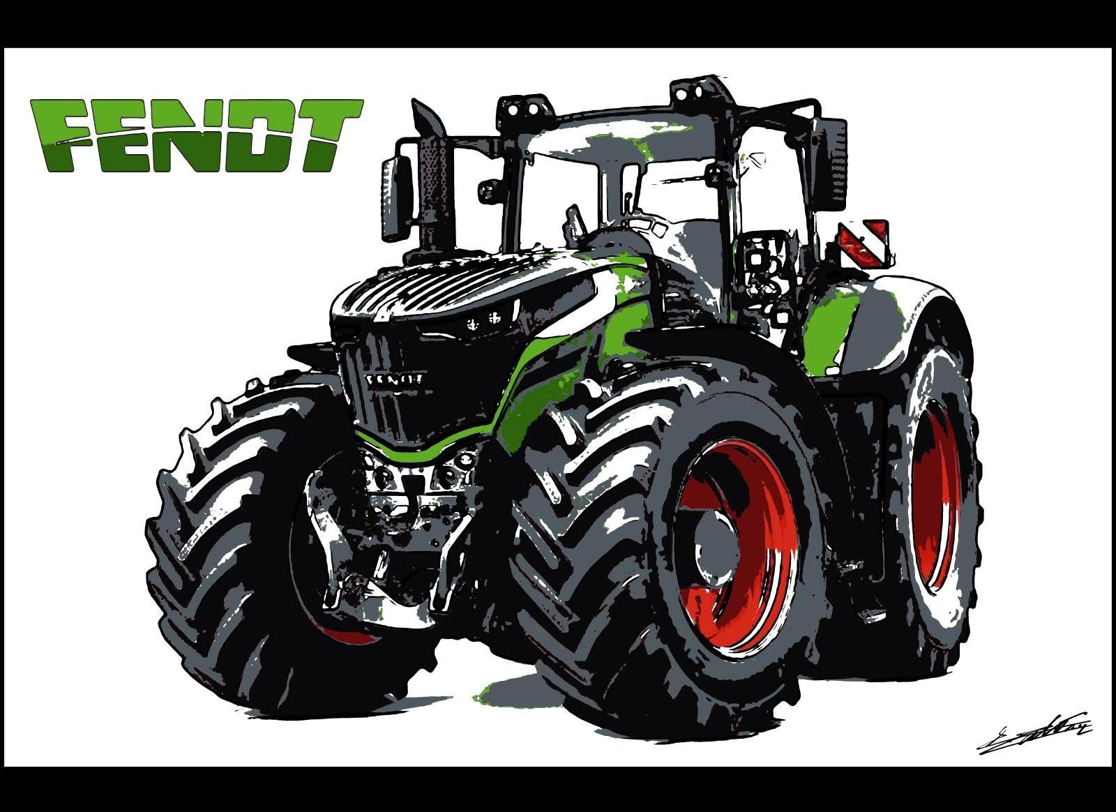 #tracteur #Fendt #Tableau #Peinture #dessin | Tracteur ...