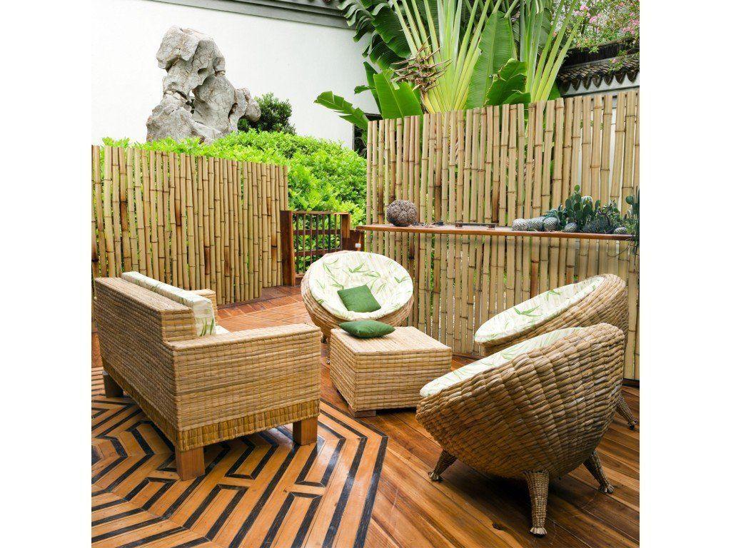 Bambus Sichtschutzzaun In 2020 Outdoor Furniture Sets Bamboo Garden