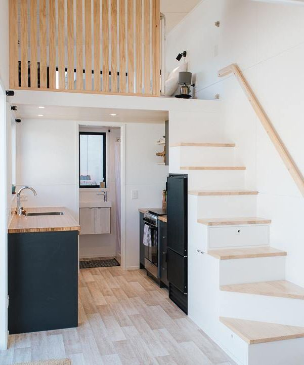 Ibbotson Tiny House by Build Tiny - #Build #House #Ibbotson #Tiny #whitewalls #tinyhousekitchens
