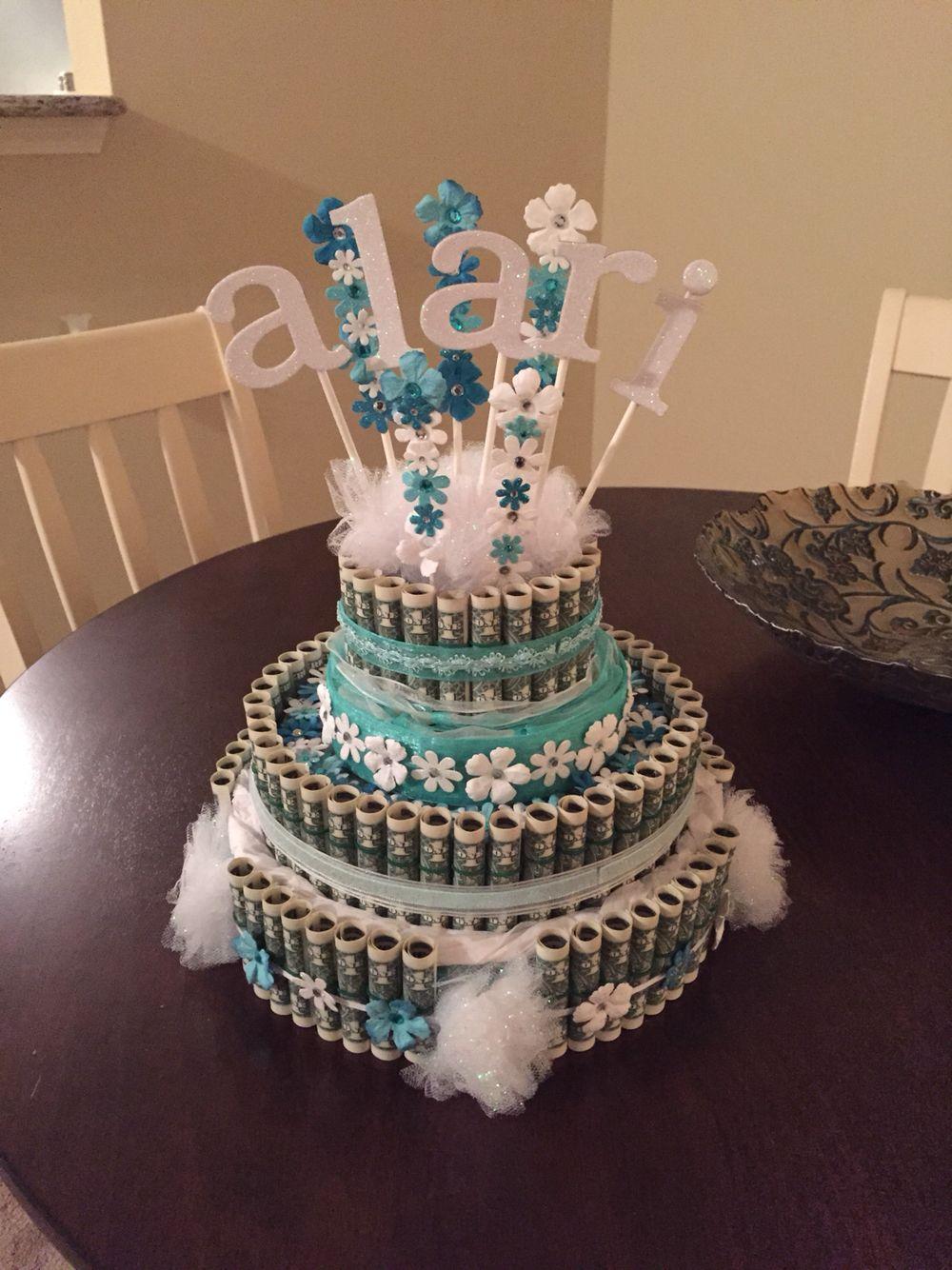 Money cake for sweet sixteen bday. | Alari's Sweet Sixteen ...