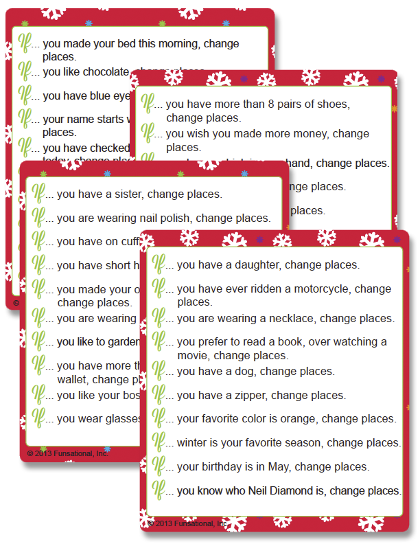 Printable Christmas Changing Places - Funsational.com | Firmenevents ...