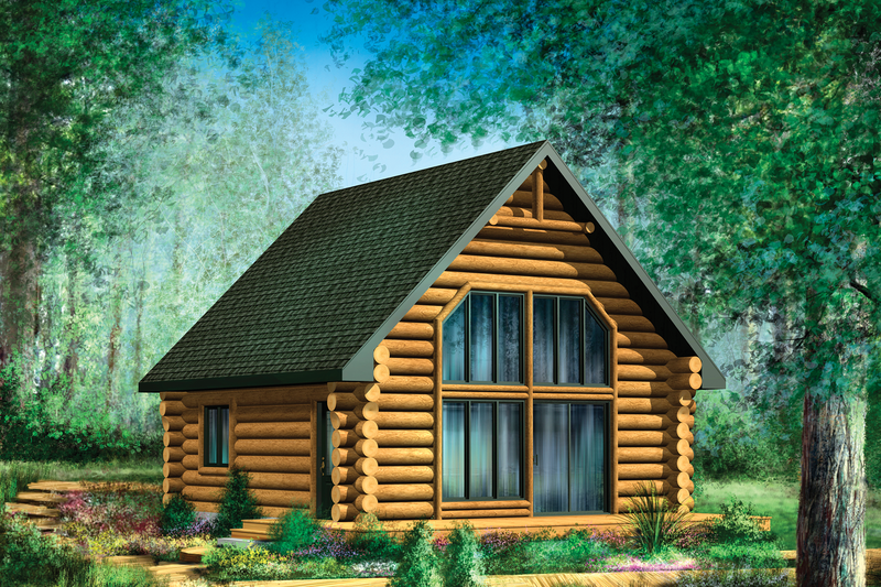 Cabin Style House Plan 2 Beds 1 Baths 743 Sq Ft Plan 25 4588 Small Cabin Plans Cottage Plan Tiny House Plans