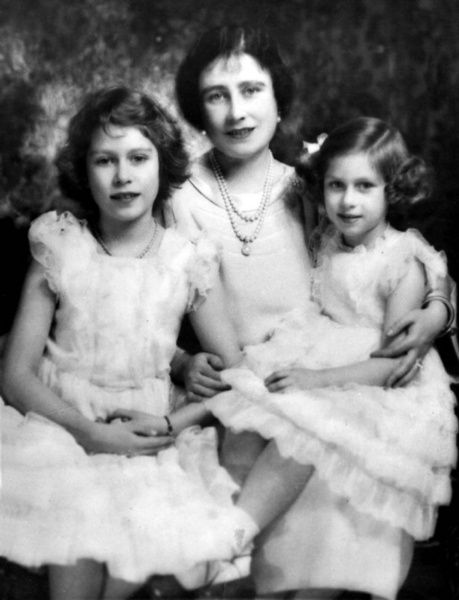 The Queen Mum back then the Queen of England with her
