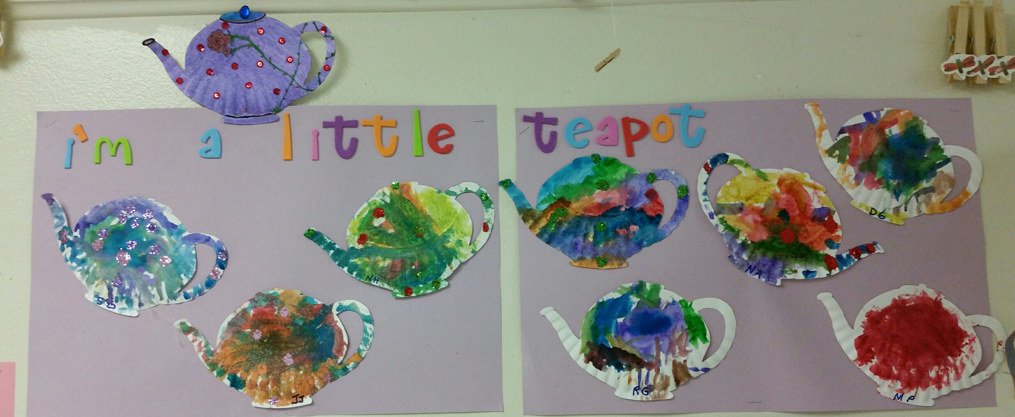 Easy Preschool Nursery Rhyme Craft I M A Little Teapot From The